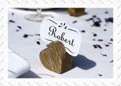 Wooden Heart Name Card Holder