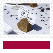 Wooden Heart Wedding Name Card Holder