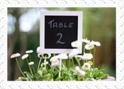 blackboard wedding table number