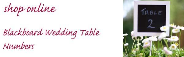 blackboard wedding table numbers