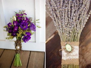 bridal bouquet with brooch