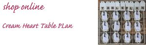 cream heart table plan