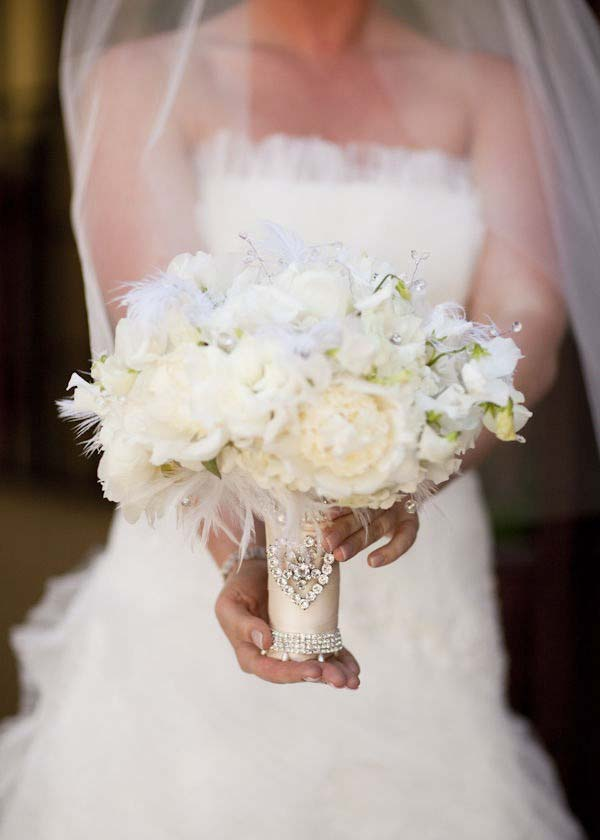 elegant white bridal bouquet