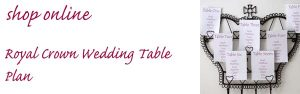royal crown wedding table plan