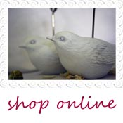 white bird place card holder