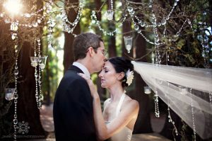crystal hanging decoration for weddings