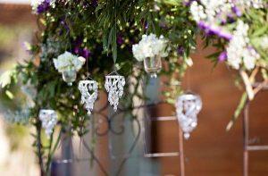 hanging crystal droplets wedding decorations
