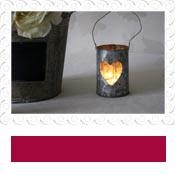 hanging tea light holder zinc hearts