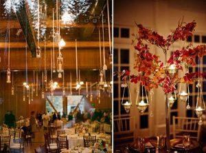 hanging wedding venue celing deocrations