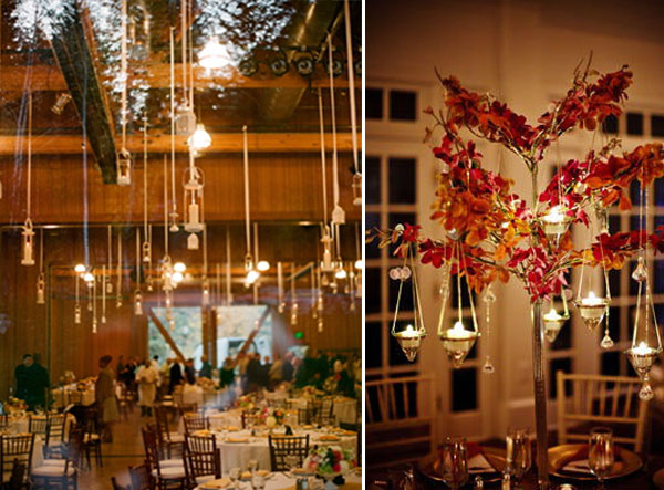 hanging wedding venue celing deocrations