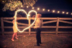 love heart sparklers