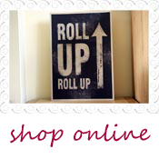 quirky wedding sign roll up