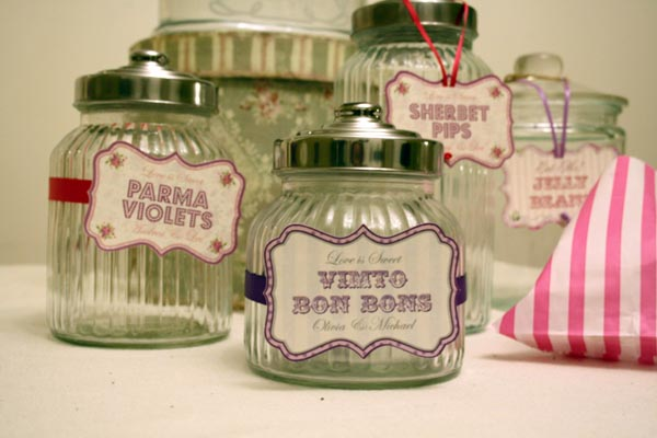 sweetie candy jars with lids for wedding candy buffet - The Wedding ...