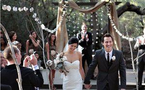 wedding ceremony decorations hanging cotton