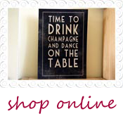 wedding sign drink champagne dance on table