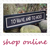 wedding sign to have and to hold