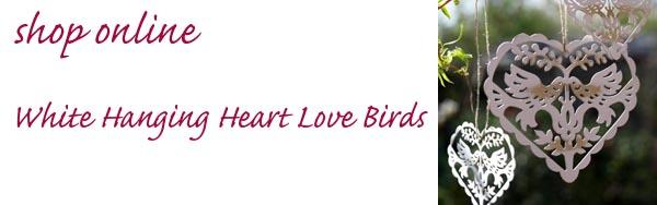 white hanging wedding decorations hanging heart love birds