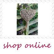 country wicker hanging heart