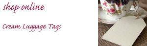 cream card luggage tags