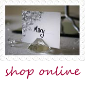 crystal name place card holder