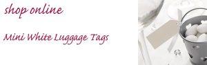 mini white luggage tags