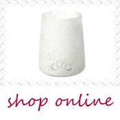 pretty white vase lantern