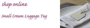 small cream luggage tags