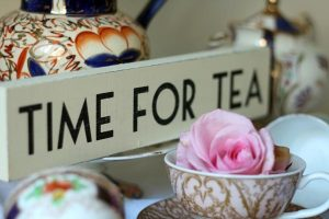 time for tea wooden sign