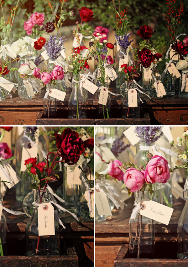 kitsch escort card ideas