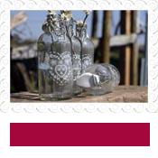 vintage glass bottles vases for weddings