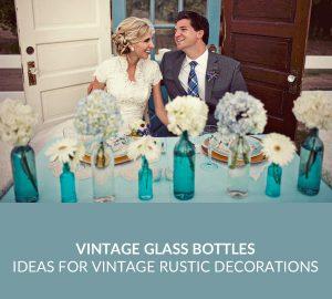 vintage glass bottles wedding decorations SQ