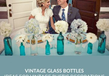 vintage glass bottles wedding decorations SQ