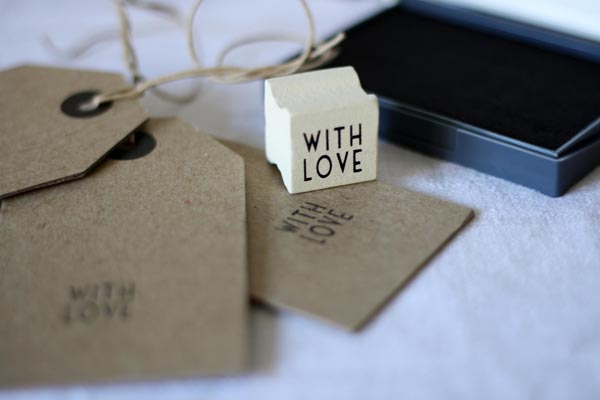 vintage wedding stamp for luggage tags