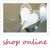 wedding name card heart for glass