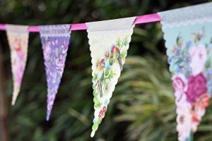Garden Party Floral Bunting