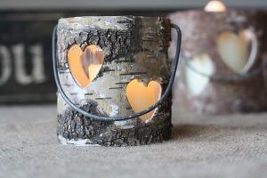 Rustic Bark Candle Holder
