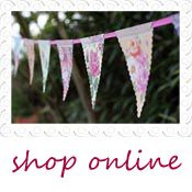 floral country garden wedding bunting