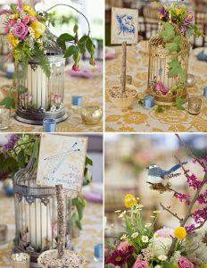 birdcage wedding table centre