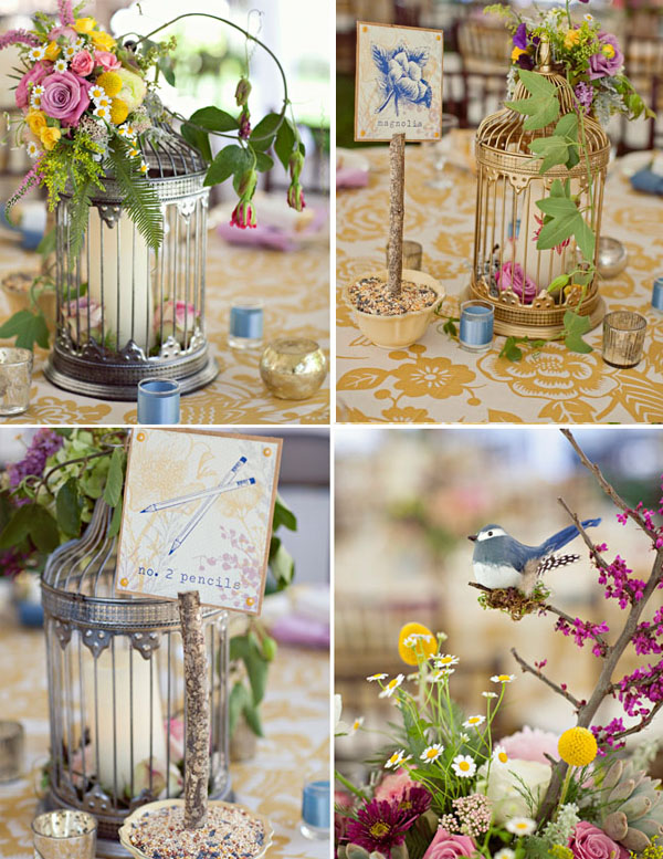 birdcage wedding table centre