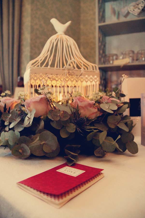 birdcage wedding table centres