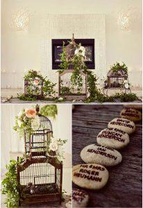 birdcages wedding table centre