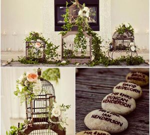 birdcages wedding table centre