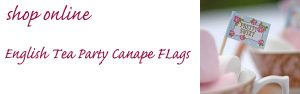 english tea party canape flags