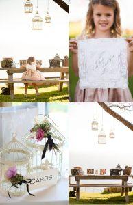 hanging wedding birdcages