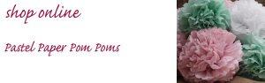 pastel paper pom poms