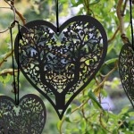 Grey Hanging Heart Wedding Decoration
