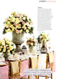Luxe Look Wedding with a hint of Rustic
