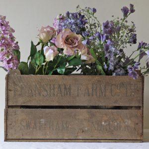 Vintage Rustic Wooden Apple Crate
