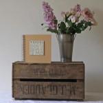 Vintage Rustic Wooden Bushel Crate