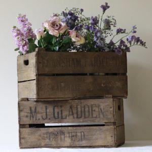 Vintage Rustic Wooden Fruit Crate